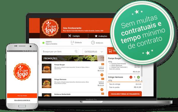 Receba pedidos em um site e aplicativo criados para o seu estabelecimento.